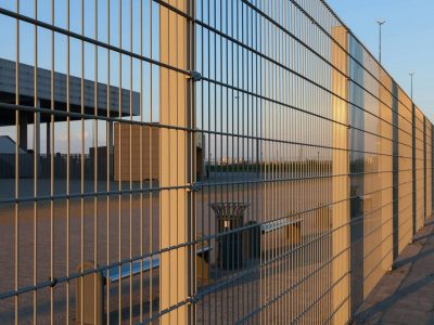 This is an image of commercial security fencing.